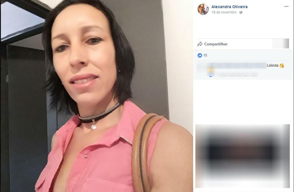 Alexandra de Oliveira foi morta a tiros em estrada rural de São Pedro do Turvo (Foto: Reprodução/Facebook )