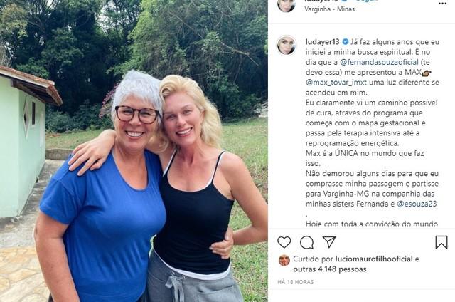 Ludmila Dayer com Max Tovar em viagem a Varginha (Foto: Reprodução Instagram)
