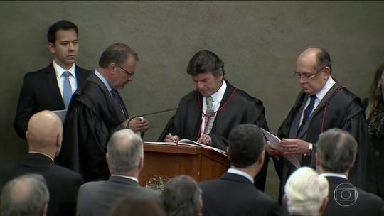 Ministro Luiz Fux, do Supremo, toma posse como presidente do TSE
