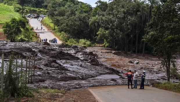 Barragem da Vale rompida em Brumadinho, Minas Gerais  (Foto: (Foto: Getty Images))
