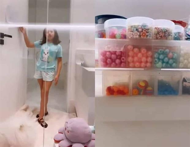 Simaria mostra a filha ocupando o banheiro do pai em mansão que moram (Foto: Reprodução / Instagram)