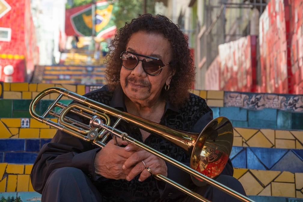 O trombonista Raul de Souza (SP) é considerado referência mundial no instrumento e toca no Cerrado Jazz Festival, em Brasília (Foto: Cerrado Jazz Festival/Divulgação)