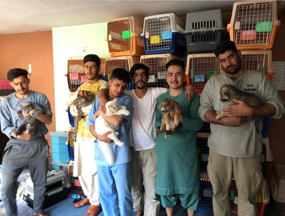Imagem sem data de um perfil em uma rede social da organização Kabul Small Animal Rescue — Foto: Reprodução/Facebook