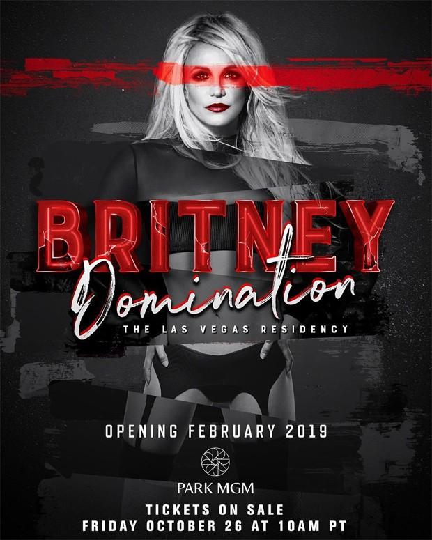 Britney Spears anuncia residência em Las Vegas (Foto: Reprodução/Instagram)