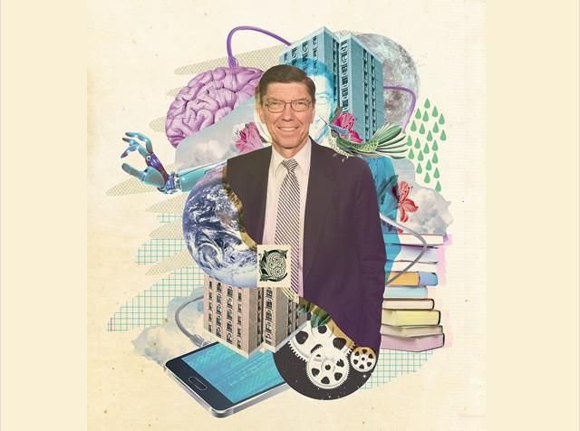 """Depois de conceituar a estratégia """"disruptiva"""", Clayton Christensen cataloga outros tipos de inovação (Foto: Ilustração de Marcel Lisboa sobre foto da Getty Image)"""