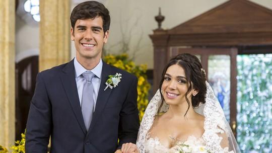 Sabrina Petraglia e Marcos Pitombo vibram com casamento de Shirlipe em 'Haja Coração'; bastidores!