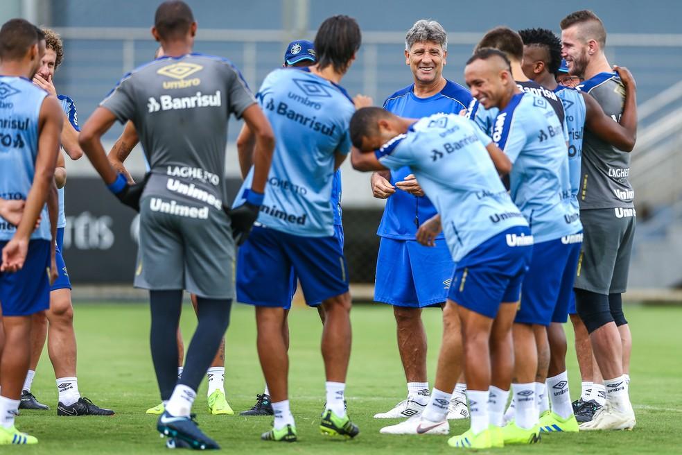 Renato Gaúcho aposta no grupo por retomada do Grêmio — Foto: Lucas Uebel/Grêmio