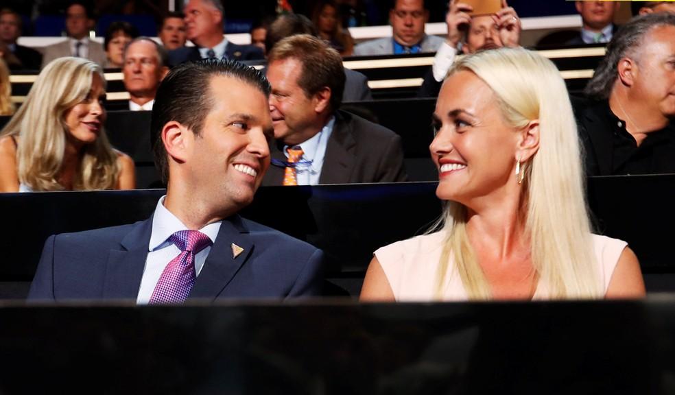 Donald Trump Jr. e Vanessa Trump em imagem de arquivo (Foto: Reuters/Jonathan Ernst)