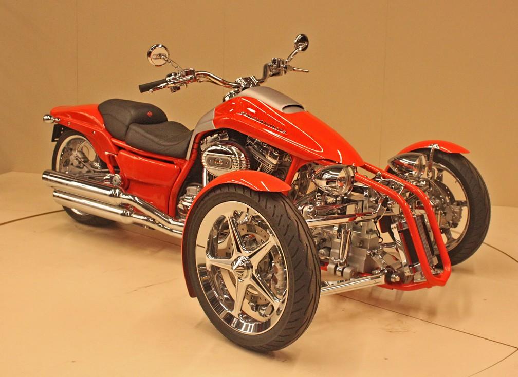 Harley-Davidson Penster de 2006 ficou apenas como protótipo (Foto: Rafael Miotto/G1)