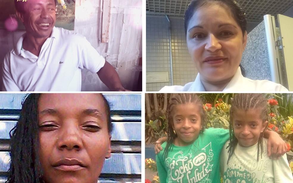 Walmir Sousa Santos, Eva Barbosa Lima, Selma Almeida da Silva e seus filhos, Welder e Wender, estão desaparecidos (Foto: Arquivo pessoal)