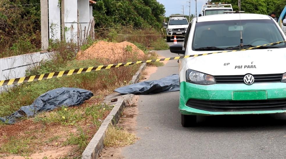 Segundo a polícia, homem atingiu sargento com golpes de foice e foi morto em seguida.  — Foto: Kairo Amaral/TV Clube