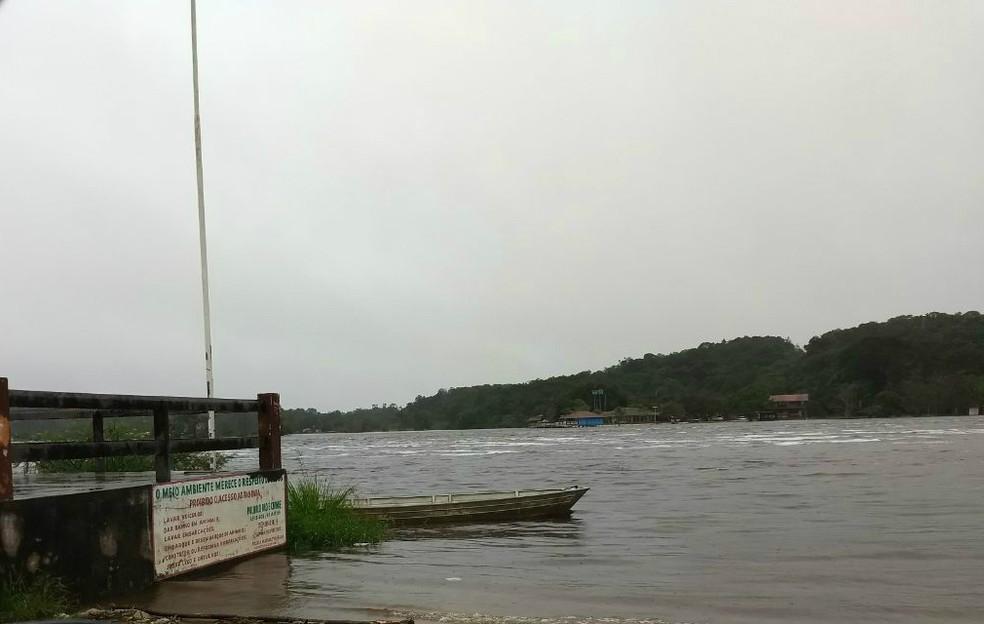 Defesa Civil do Amapá está em alerta com possibilidade de cheia no rio Araguari (Foto: Polícia Militar)