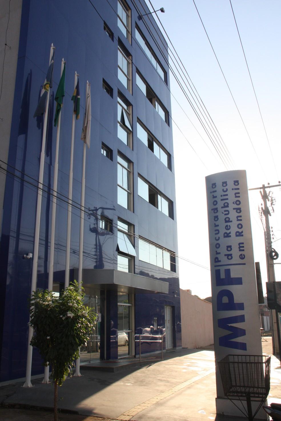 Fachada do Ministério Público Federal em Rondônia — Foto: MPF/Divulgação