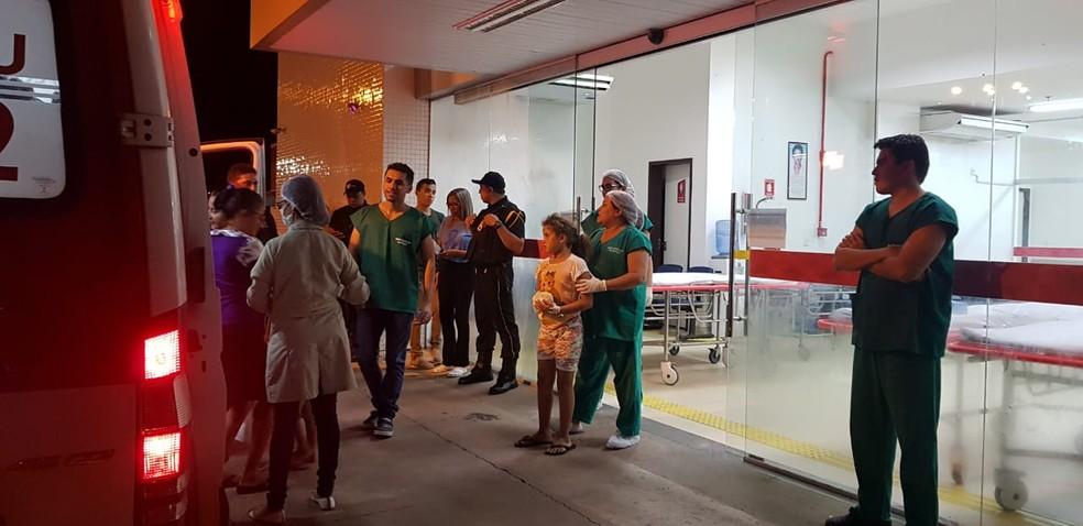 Pacientes foram removidos para outros hospitais de Imperatriz (MA) — Foto: Erisvaldo Santos/TV Mirante