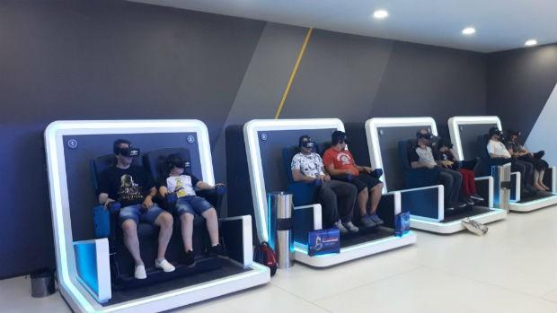Experiência 4D da Chevrolet no Salão de SP 2018 (Foto: Maria Clara Dias/ Autoesporte)