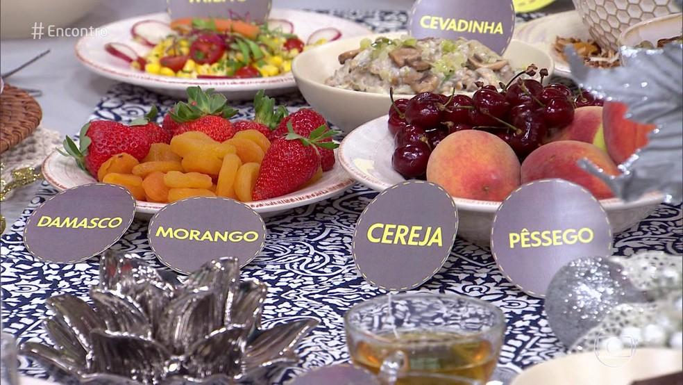 Frutas agem neutralizando os radicais livres — Foto: Reprodução/ TV Globo