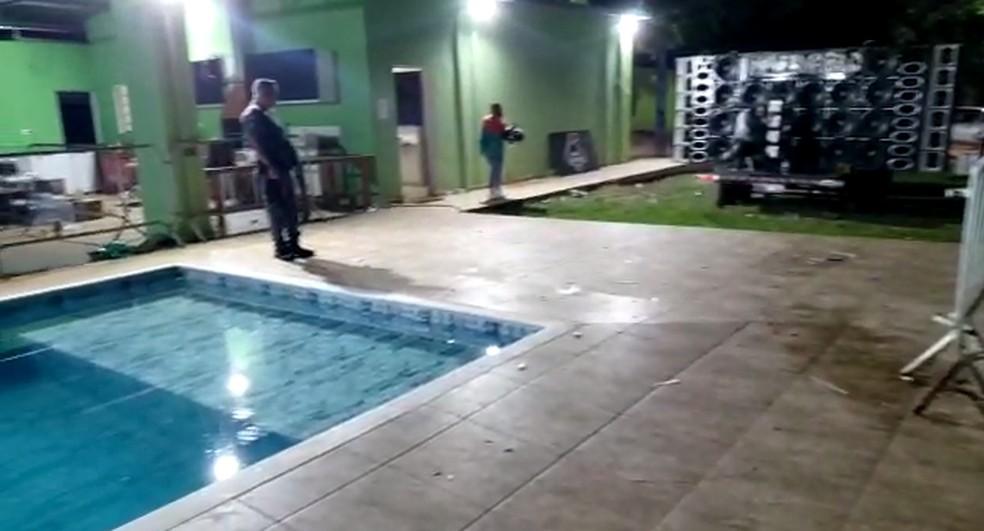 Baile funk clandestino em Boituva (SP) — Foto: Polícia Civil/Divulgação