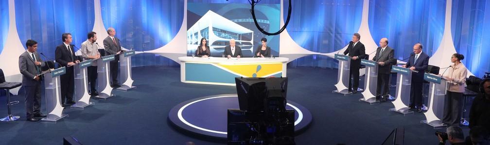 82312a8b3 ... Candidatos à Presidência da República em debate eleitoral promovido  pela RedeTV, em parceria com a