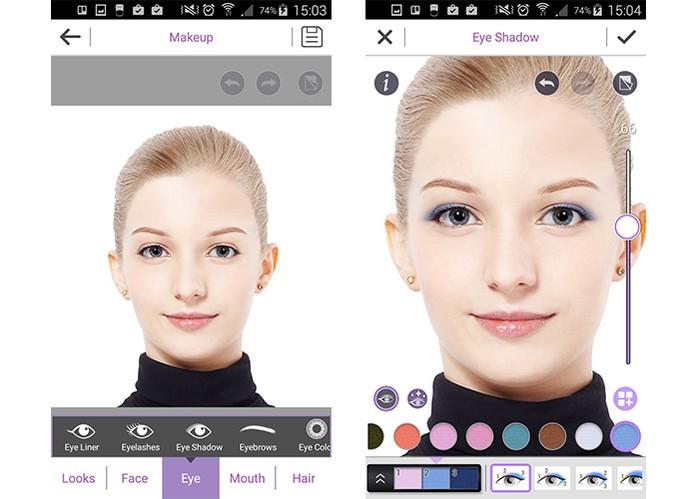App YouCam aplica maquiagem completa nas selfies (Foto: Reprodução/Barbara Mannara)