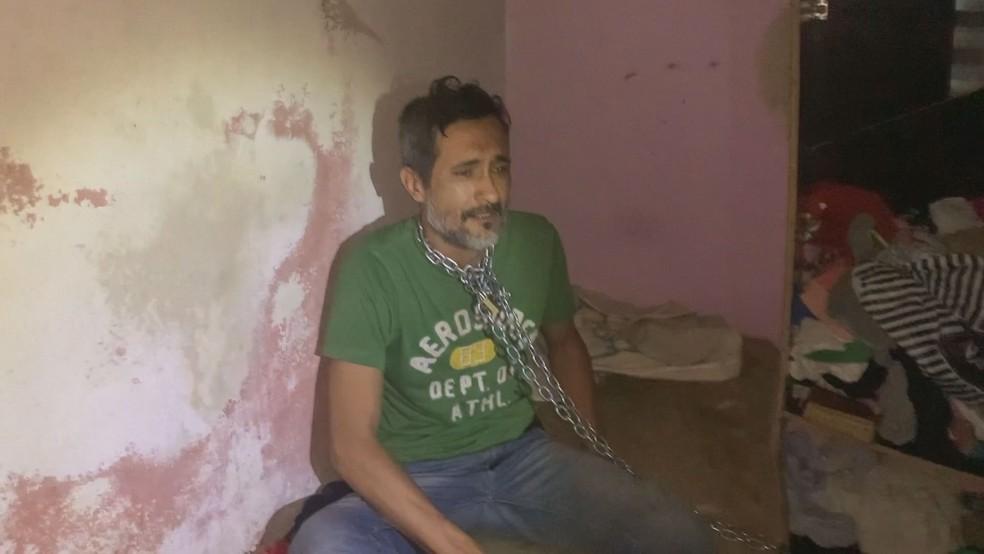 Vítima foi deixada praticamente sem comida por oito dias em cativeiro em Miracatu, SP — Foto: Reprodução