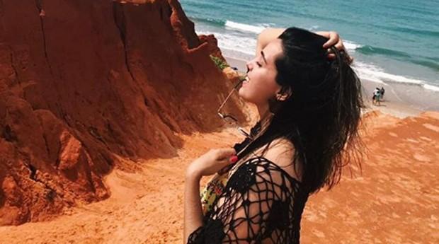 Dalyla Ferreira durante as férias (Foto: Reprodução/instagram/lardenos4)