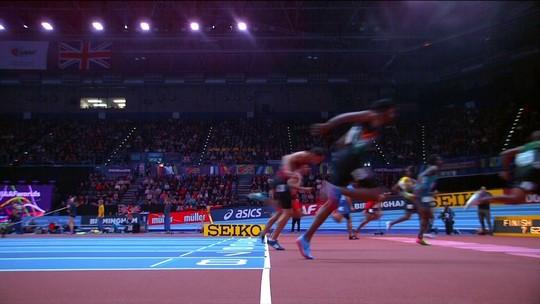 Gabriel Constantino chega em quarto na prova dos 60m com barreiras no Mundial Indoor