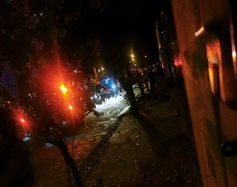 Seis policiais ficam feridos em explosão de casa em Fartura (SP) — Foto: Arquivo Pessoal