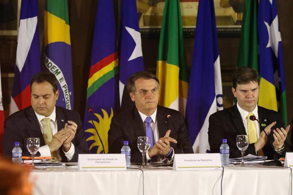 Bolsonaro participa de reunião do Conselho Deliberativo da Sudene, no Recife — Foto: Marlon Costa/Pernambuco Press