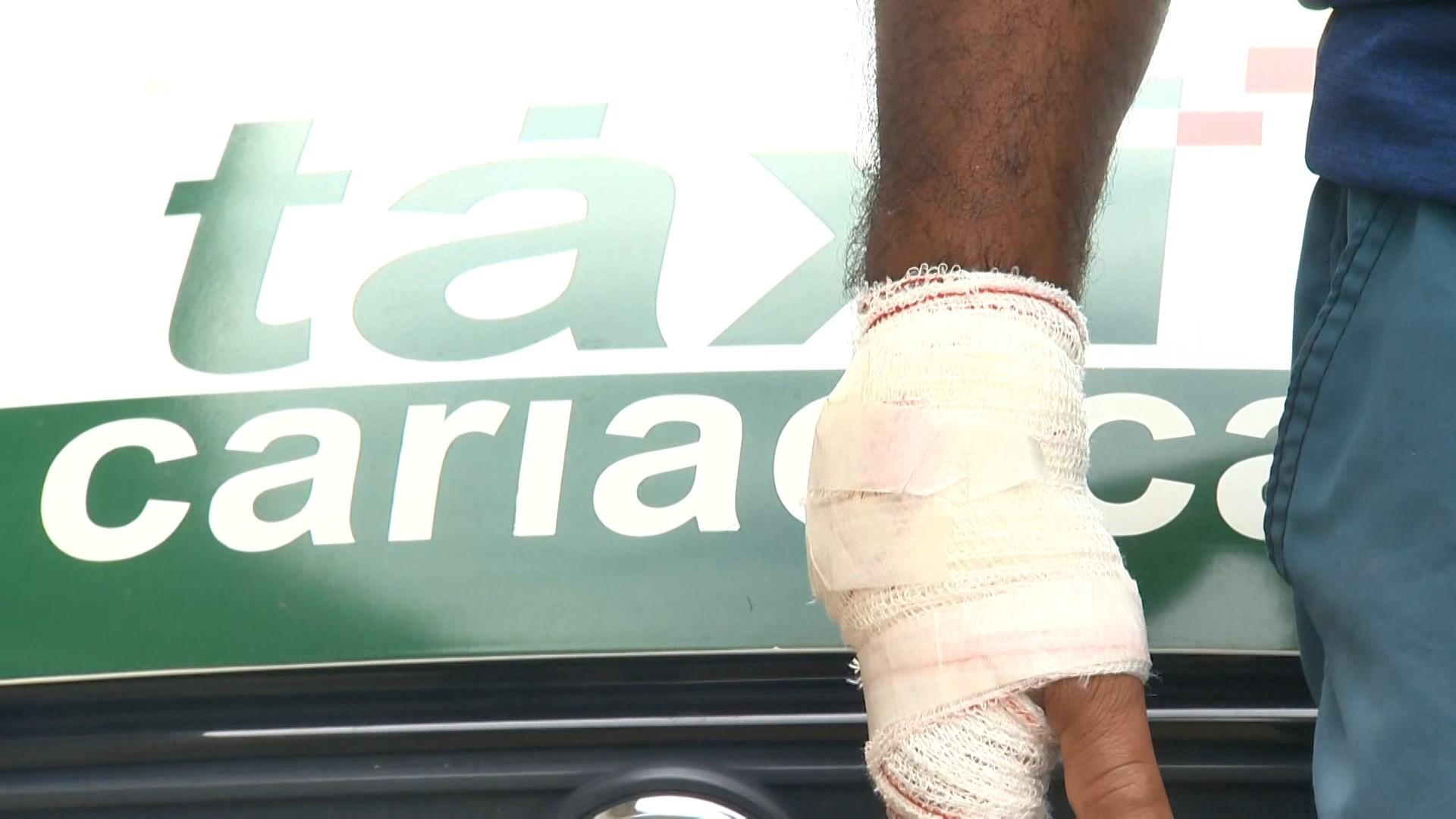 Taxista é baleado na mão durante tentativa de assalto em Cariacica, ES