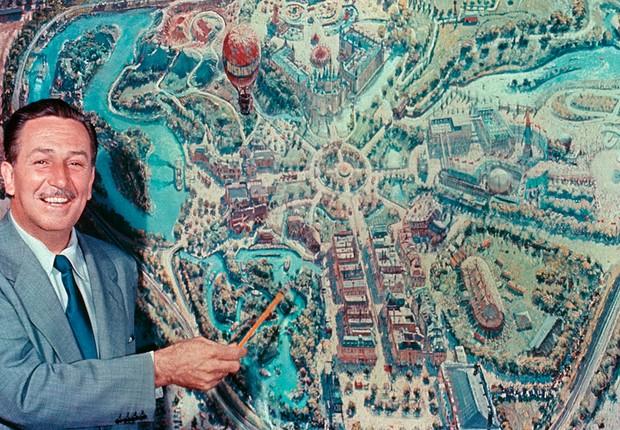 Walt Disney apresenta o conceito do parque Disneylândia em filme gravado para investidores e grande público (Foto: Walt Disney/Divulgação)