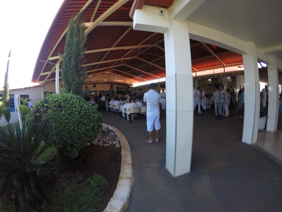 Atendimentos na Casa Dom Inácio Loyola, em Abadiânia, Goiás, começaram sem João de Deus na quarta-feira, 12 de dezembro — Foto: Murillo Velasco/G1