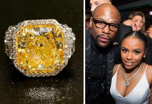 O anel dado pelo ex-boxeador Floy Mayweather à sua filha de 18 anos (Foto: Instagram)