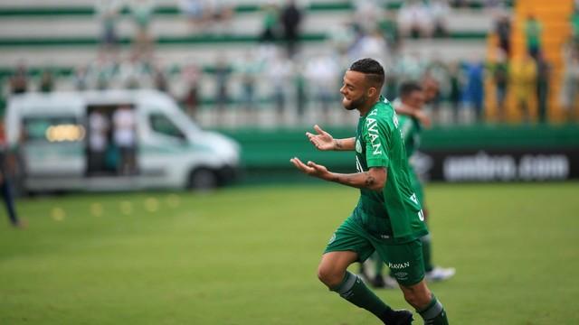 No primeiro turno Guilherme anotou os dois da Chape pra cima do Inter de Lages ( Imagem: Sirli Freitas/Chapecoense)