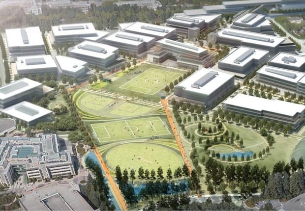 Projeto de modernização do campus de Redmond da Microsoft (Foto: Divulgação/Microsoft)
