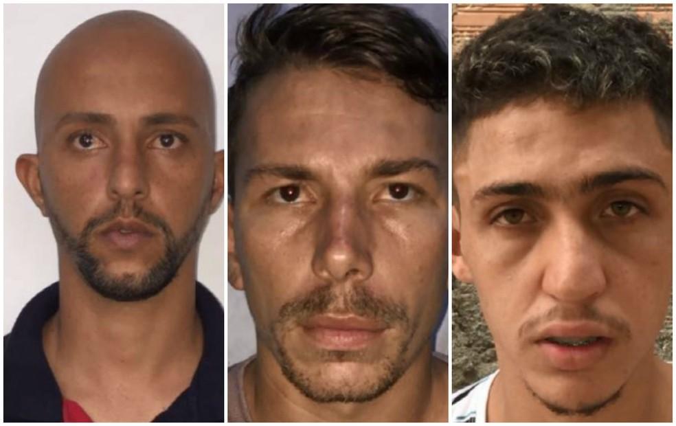 Edson Ricardo da Silva, Luiz Antônio Carlos Venção e Diego Afonso Siqueira Santos são suspeitos de envolvimento na morte de PM em Matão (Foto: Polícia Civil/ Divulgação)