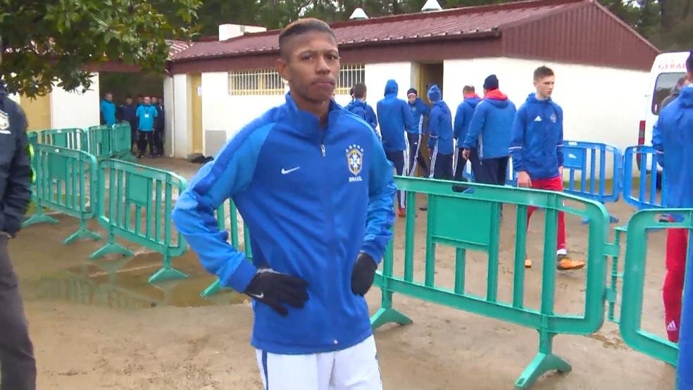 Miguel, atacante do Fluminense e da seleção brasileira sub-17, no Torneio de Montaigu (Foto: Reprodução de vídeo)