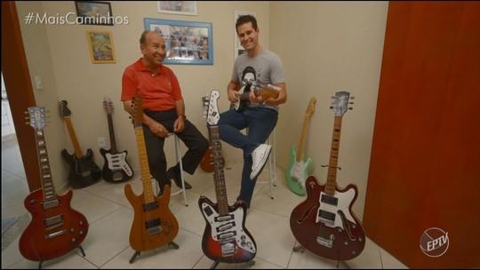 'Colecionando Rock'n'roll': músico possui coleção de 35 guitarras