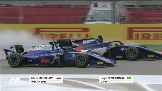 Em final emocionante, Sérgio Sette Câmara sustenta segunda posição em GP da Fórmula 2