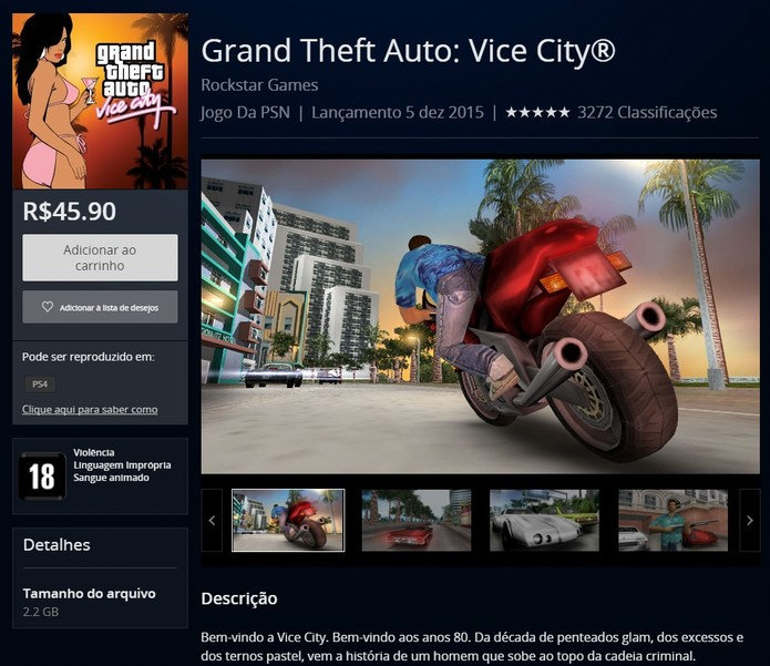 grand theft auto vice city ps4 free download