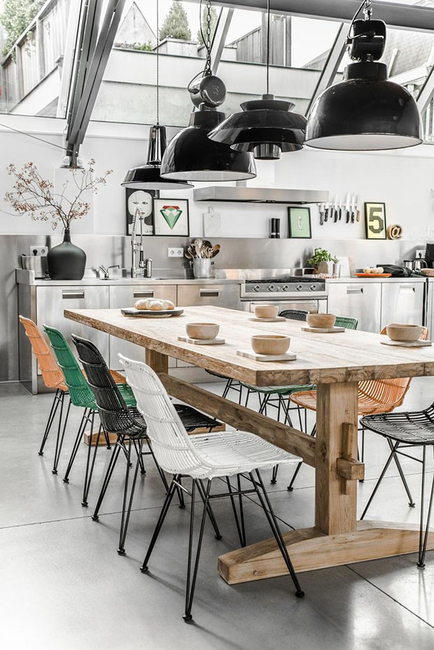Decoração de cozinhas: 13 ambientes com estilo industrial (Foto: Reprodução)