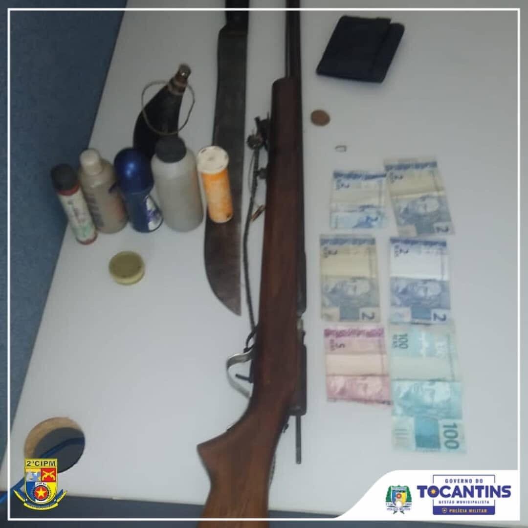 Suspeito de ameaçar família com arma em fazenda é preso no interior do Tocantins