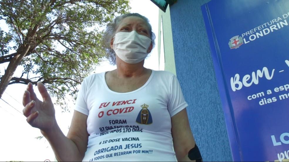 Rosimeire venceu a Covid-19 após ficar 98 dias internada e mais 72 dias de recuperação — Foto: Reprodução/RPC