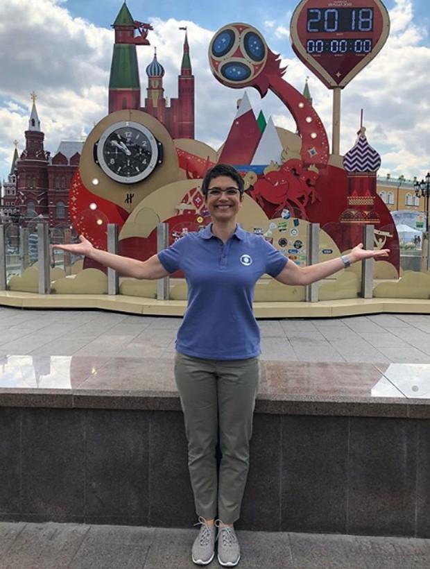 Sandra Annenberg est[á em Moscou para a cobertura da Copa pela TV Globo (Foto: Reprodução/Instagram)