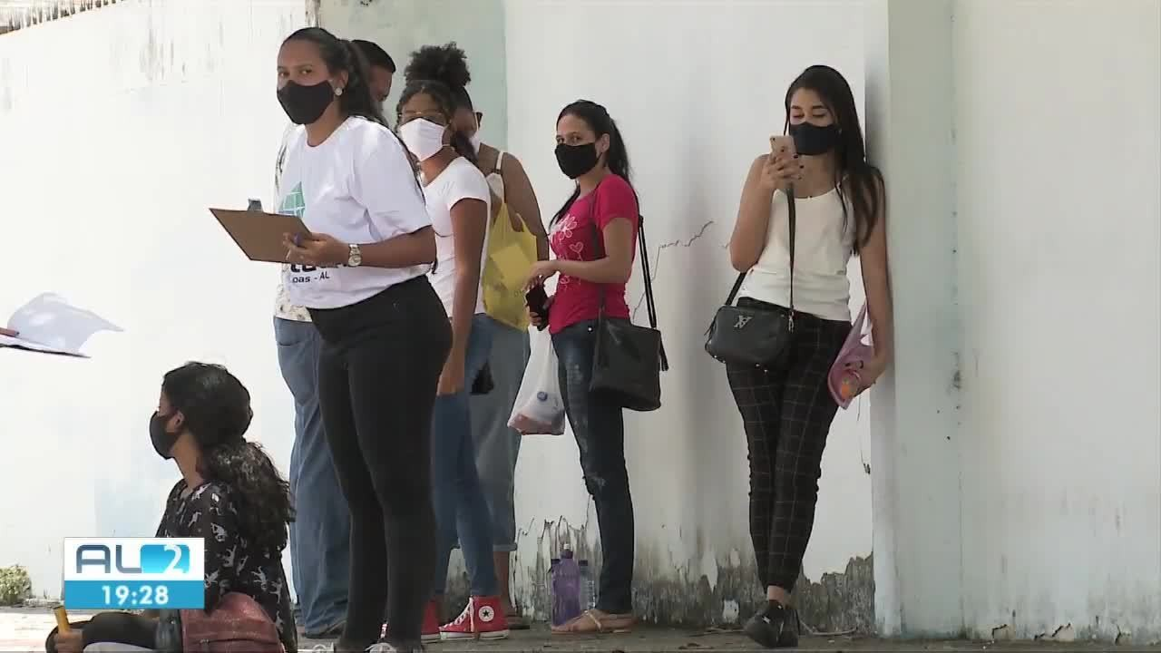 Quase 50% dos candidatos não fazem as provas no primeiro dia do Enem em Alagoas