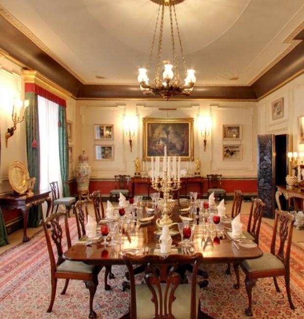 Interior da casa do Príncipe Charles: sala de jantar (Foto: Google Arts&Culture/ Reprodução)
