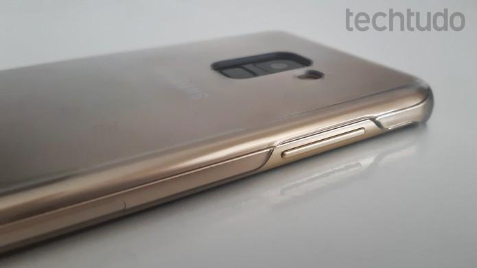 Galaxy A8 [marca] (Foto: Bruno De Blasi/TechTudo)