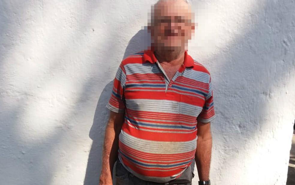 Idoso era procurado há 16 anos por morte em Pernambuco (Foto: Comando de Polícia de Trânsito/divulgação)