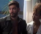Diogo (Armando Babaioff) e Gisele (Sheron Menezzes)   TV Globo