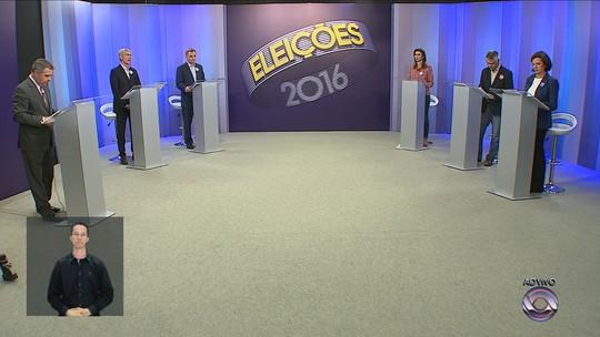 Candidatos a prefeito de Florianópolis participam de debate na RBS TV