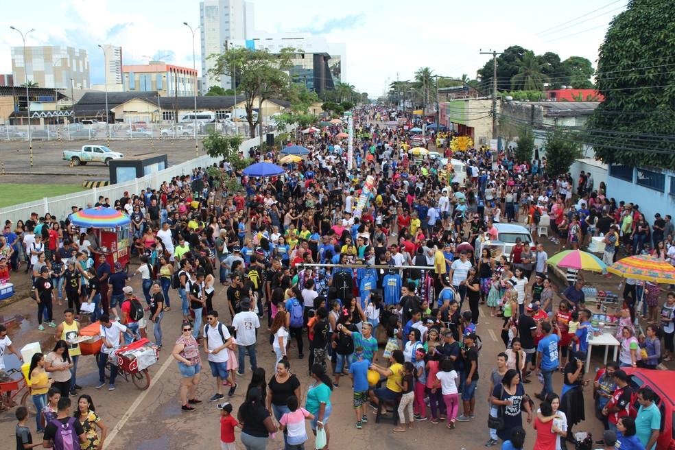 Marcha para Jesus em Porto Velho — Foto: Pedro Bentes/Arquivo/G1RO